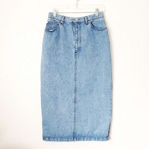 Polo by Ralph Lauren Skirts - 90s Vintage Ralph Lauren Polo Denim Jean Skirt 708